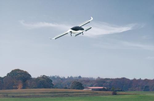 飛行するLiliumの機体「Lilium Jet」