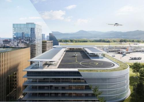 Liliumが2020年7月に発表した離着陸場のコンセプト