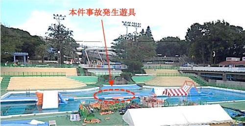 事故が発生した水上遊戯施設