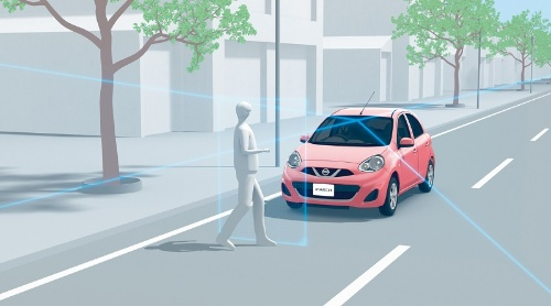 自動ブレーキの作動イメージ