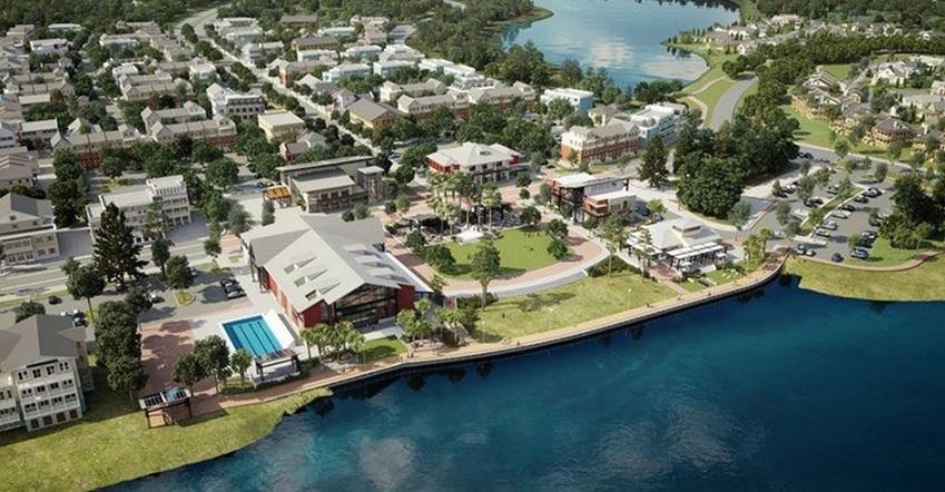 図1●フロリダ州にある大規模な分譲住宅池「バブコック・ランチ」 (出所:Kitson & Partners)