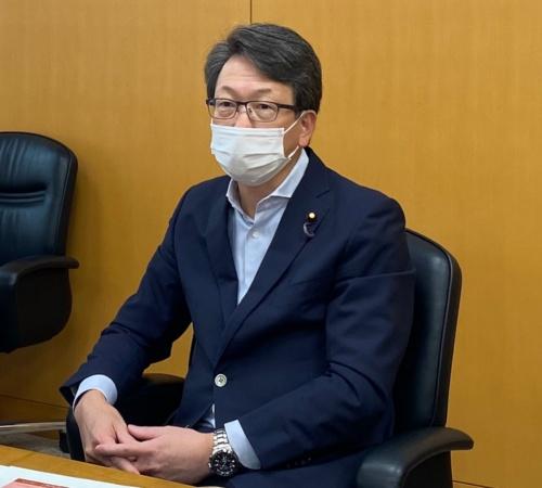 アプリの普及策を語った平将明内閣府副大臣