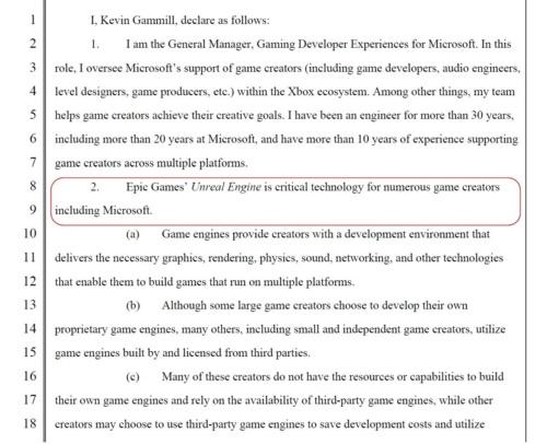 米Microsoftが裁判所に提出した意見書の冒頭