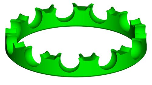 「冠型保持器」の形状