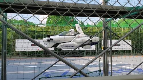 新型機「SD-03」による有人飛行試験の様子