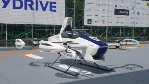 SkyDriveの空飛ぶクルマ「SD-03」の外観