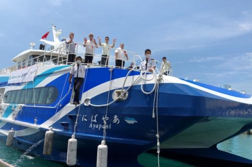 図1 ユーグレナは八重山観光フェリーと組みバイオディーゼル燃料の船舶への試験導入を開始した