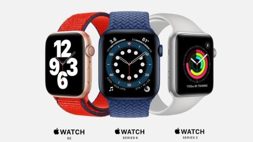 「Apple Watch Series 6」と廉価版の「Apple Watch SE」を発表。Series 3の販売を続けるので、Apple Watchは3種類のラインアップとなる