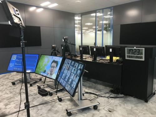 NECネッツエスアイが新ビジネス創造の場とする「日本橋イノベーションベース」に開設した社内スタジオ
