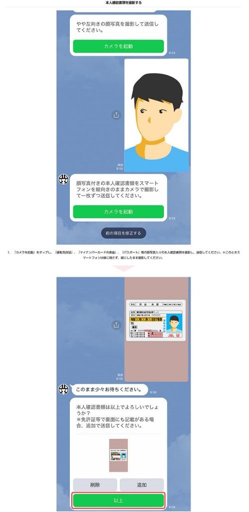 LINEを使った顔写真による本人確認を説明した渋谷区のWebサイト