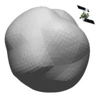 図1 微小小惑星「1998 KY26」の形状モデルと大きさ比較