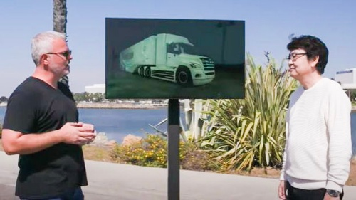 図2 2021年前半に大型FCトラックの試作車両を製作予定