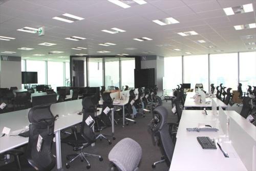 35階の執務スペース(2020年10月1日時点)