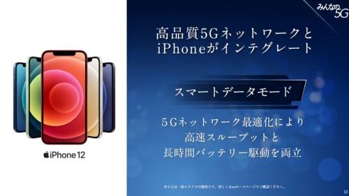 5Gと4Gを自動的に切り替えて電力消費量を抑える「スマートデータモード」
