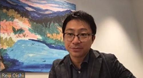 オンライン取材に応じるヘルスケアテクノロジーズ社長の大石怜史氏