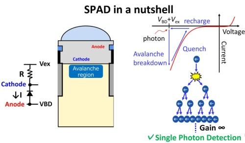 SPADとアバランシェ現象の説明