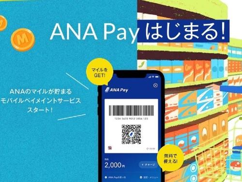 2020年12月10日から始まった全日本空輸(ANA)の「ANA Pay」のWebページ