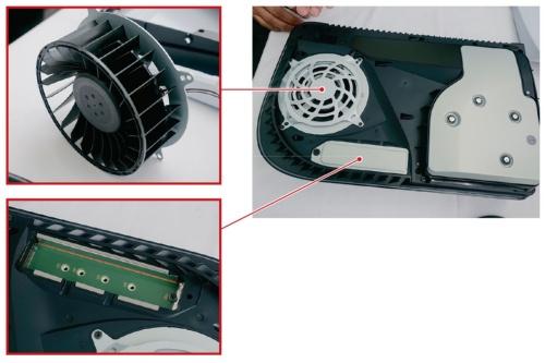 図3 掃除用の穴や外付けSSD用スロットなどに誰でもアクセス可能