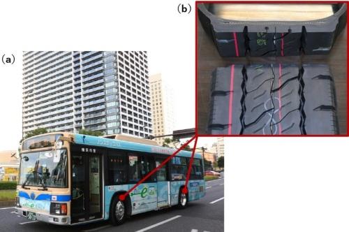 図1 ブリヂストンはEVバス専用の試作タイヤを開発した