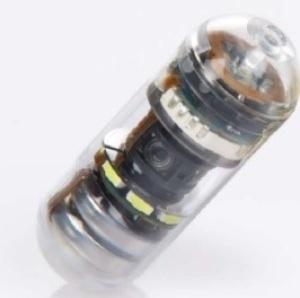 直径1.1センチメートル、長さ約3センチメートルのCapsoCam Plusカプセル内視鏡