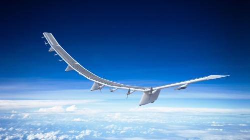 HAPSモバイルが上空20キロメートルに飛ばすドローンのイメージ