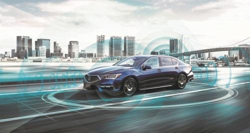 図1 ホンダの新型セダン「LEGEND Hybrid EX・Honda SENSING Elite」