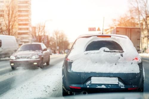 図2 車体に積もる雪が自動運転の課題に