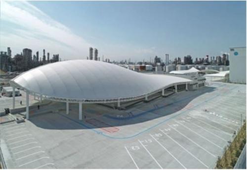 「夢の絆・川崎」の外観。2万8700平方メートルの広さがある