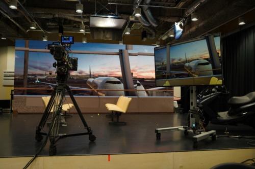 撮影機材が並ぶソニーPCL本社の研究開発スペース