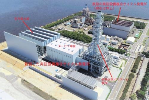 実証設備複合サイクル発電所第2号発電設備(通称:第二T地点)の全景
