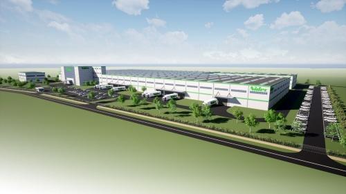 日本電産がセルビアに構える新工場の完成予想図