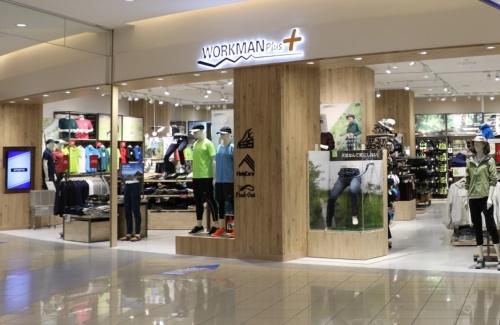 アウトドアやスポーツ用の衣料を扱う「WORKMAN Plus」など新業態の出店を強化している