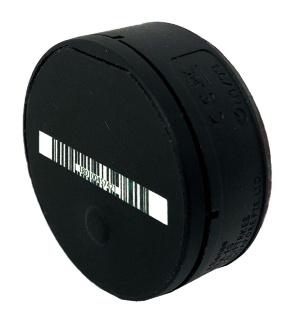 無線通信モジュール一体型の重力センサー「e.Sense」。商品を取る動きを検知してはかりへ通知し、消費者が商品名を選択する手間を省く