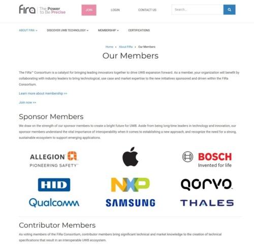 FiRaのメンバーを紹介するWebページ
