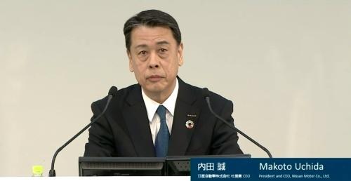 日産自動車の内田社長兼CEO
