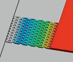 フォノニック結晶を搭載したSiの熱伝導シミュレーション結果