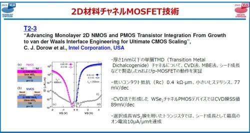 Intelの「2D材料チャネルのN/P MOSFETの試作と評価」