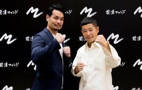 ユカシカドは前沢ファンドから出資を受けた。左からユカシカドの美濃部慎也代表取締役兼CEO、前沢ファンドの前沢友作代表取締役