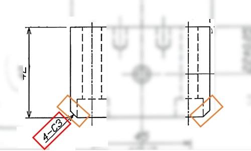 【CASE1】C面取りに関する問題を抱えた図面
