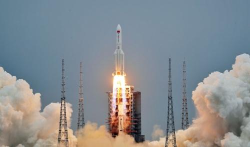長征5号Bロケットの打ち上げ(出所:中国国家航天局)