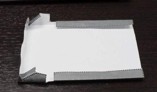 図5 折り方を検証した紙のサンプル