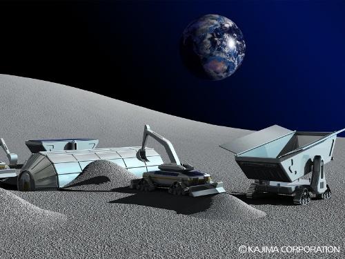 月面探査のための拠点建設イメージ