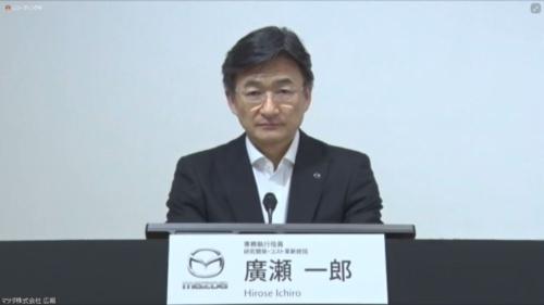 図1 マツダ専務執行役員 研究開発・コスト革新統括の広瀬一郎氏