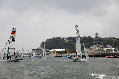競技会場となる江の島ヨットハーバー(写真:Tokyo 2020)