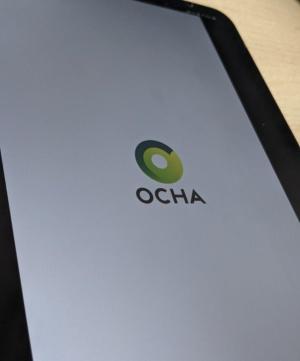 内閣官房IT総合戦略室が調達したオリパラアプリ「OCHA」の起動画面