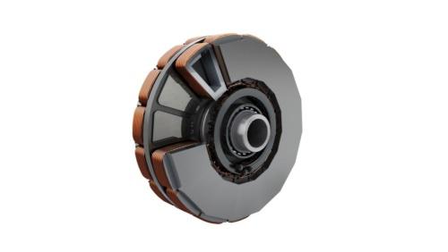 図4 自動車用の軸方向磁束モーター