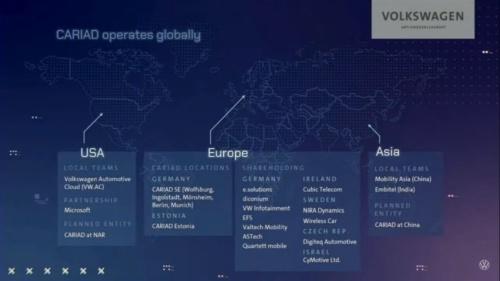 図4 グローバルで開発を手掛けるCARIAD