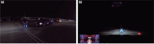 夜間歩行者を対象にした自動ブレーキ試験(20年度)