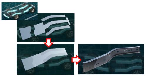 図7 世界初の溶接技術で補強部材を不要に