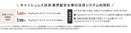 PayPayの新たな決済手数料の概要